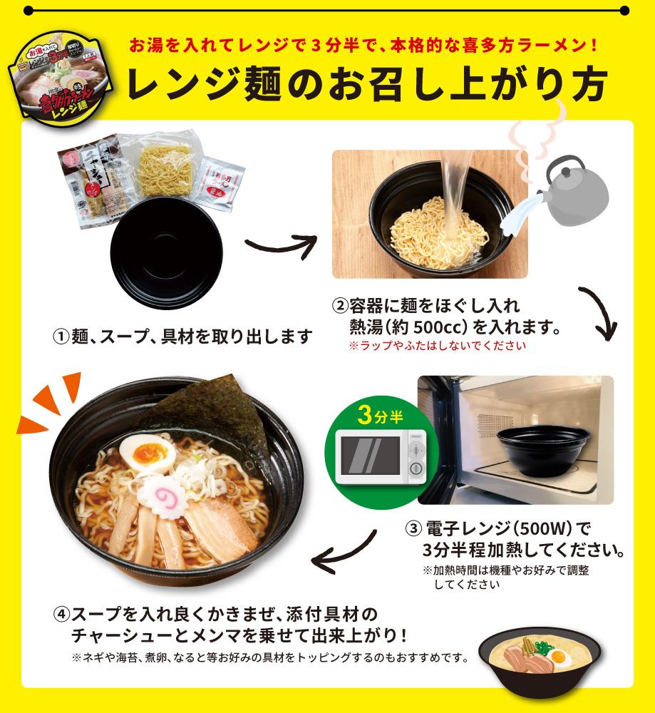 レンジ麺のおいしい食べ方